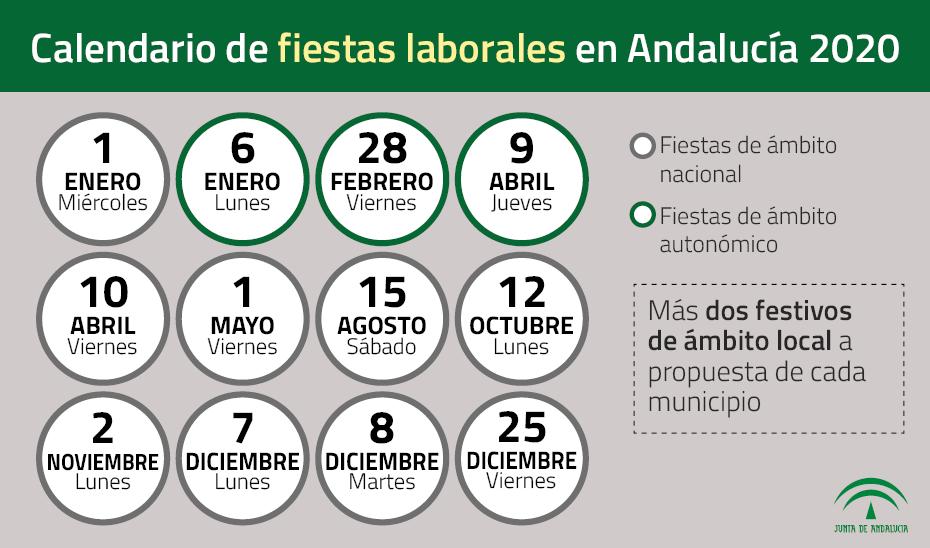 Calendario 2020 Con Festivos Andalucia.El 28 De Febrero Seguira Siendo Festivo En Andalucia En 2020