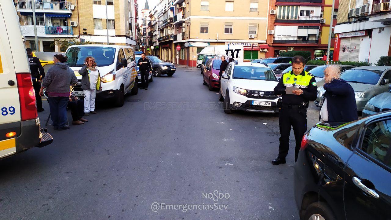 Imagen del atropello en Triana. FOTO: EMERGENCIAS SEVILLA