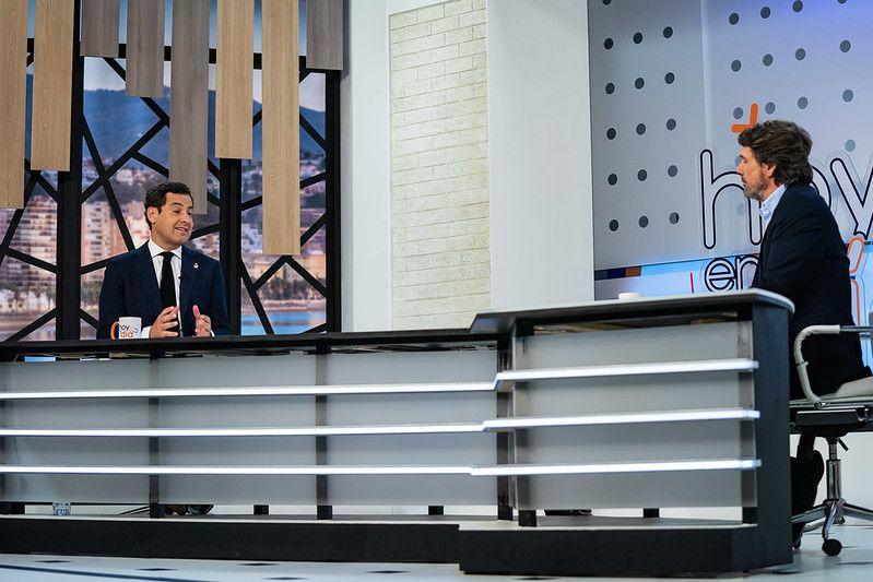 Moreno Bonilla en su intervención en el programa Hoy al día de Canal Sur