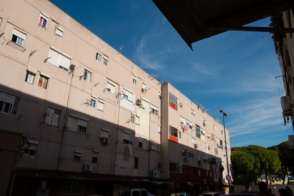 Uno de los bloques afectados en San Juan de Dios. / FOTO: MANU GARCÍA